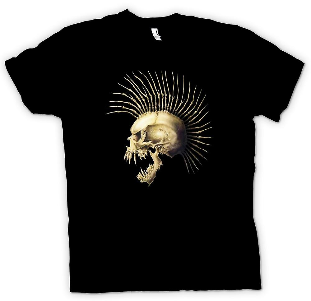 Womens T-shirt - Punk Skull With Spines