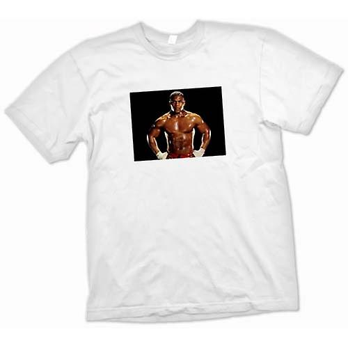 Mens T-shirt-Mike Tyson Boxing Training