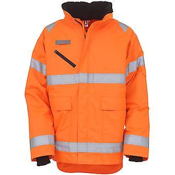 Yoko Mens Hi Vis Fontaine Waterproof Storm Safety Zip Up Jacket