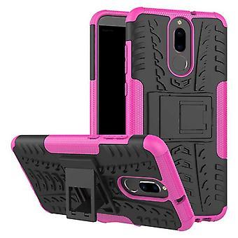 Hybrid fall 2 bit SWL utomhus rosa för Huawei mate 10 Lite Pocket sleeve cover skydd