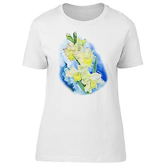 Yellow Gladiolus Flowers  Tee Women's -Image by Shutterstock