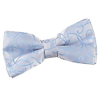 Baby Blue Swirl Pre-Tied Bow Tie