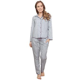 Cyberjammies 3772 Women's Sienna Grey Leaf Print Pajama Pyjama Top