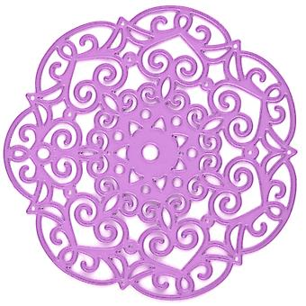 Prima Marketing Purple Metal Die-Embroidery Doily