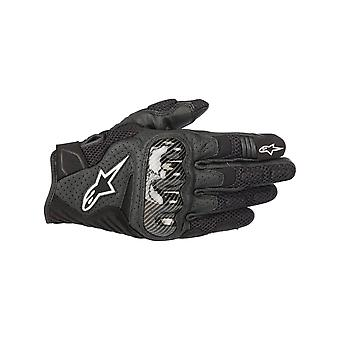 Alpinestars Black SMX-1 Air V2 Motorcycle Leather Gloves