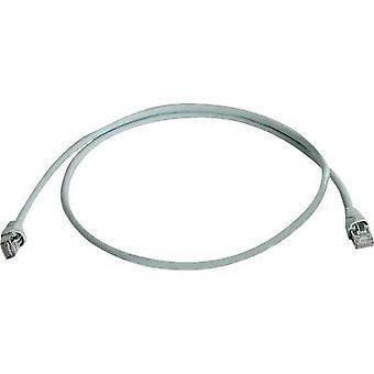 Telegärtner RJ45 nettverk kabel CAT 6A S/FTP 1,5 m grå flammesikkert, halogenfri