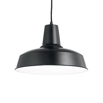 Ideal Lux Moby Single Pendant Light Black