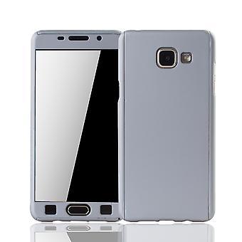 Samsung Galaxy A5 2016 celular funda protectora caso tanque protección cristal plata
