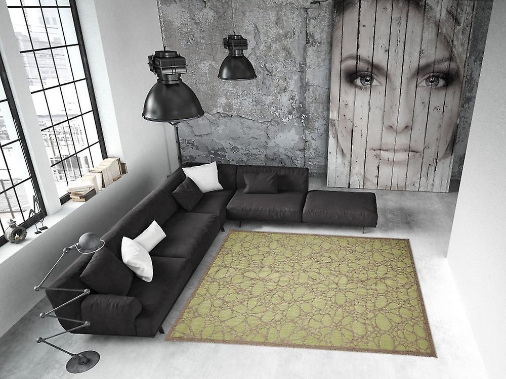 Buiten tapijt voor terras balkon green hedendaagse fiore groen