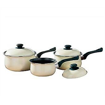 3pc Cream Cookware Set