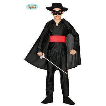 Masked Bandit costume for Kids Carnival of black Avenger