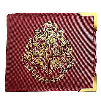 Harry Potter Premium red purse of Hogwarts coat of arms printed leather.