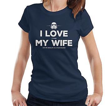 Original Stormtrooper Frau lässt mich verkleiden sich die Frauenunterhemde