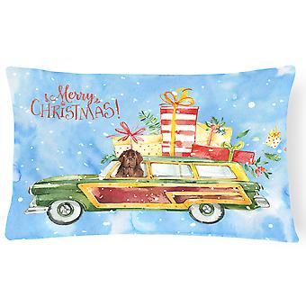 Merry Christmas Newfoundland Canvas Fabric Decorative Pillow