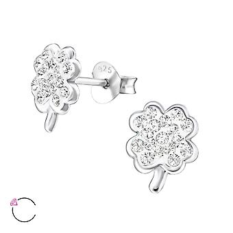 Clover Crystal From Swarovski® - 925 Sterling Silver Children's Ear Studs - W24691x
