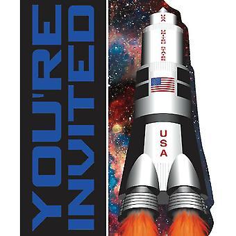 スペース宇宙パーティー招待状を封筒 8 個宇宙飛行士パーティー誕生日の装飾