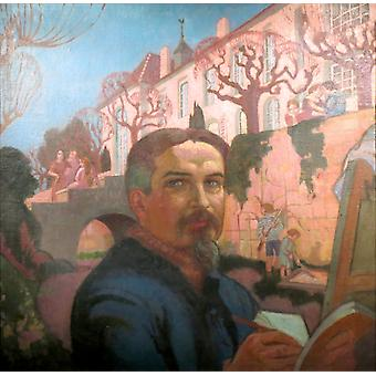 Self-portrait with His Family in Front of, Maurice Denis, 50x50cm