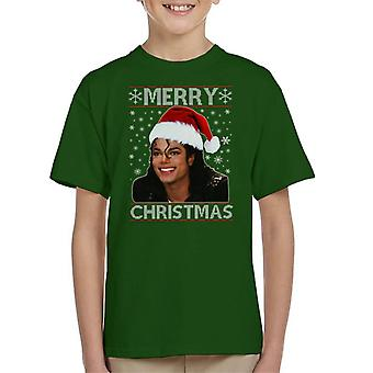 Michael Jackson Merry Christmas Kid's T-Shirt
