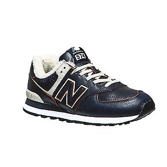 New balance 574 men's sneaker with blue lining