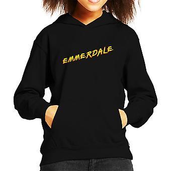 Emmerdale Baywatch Logo Kid's Hooded Sweatshirt