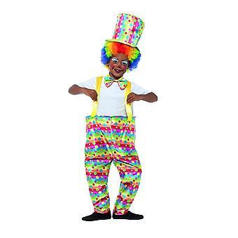 Traje de circo de payaso de niños, niños vestido de lujo, gran edad 10-12