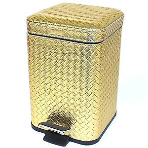 Gedy Marrakech Pedal Bin Soft Close 3L Gold 6709 87
