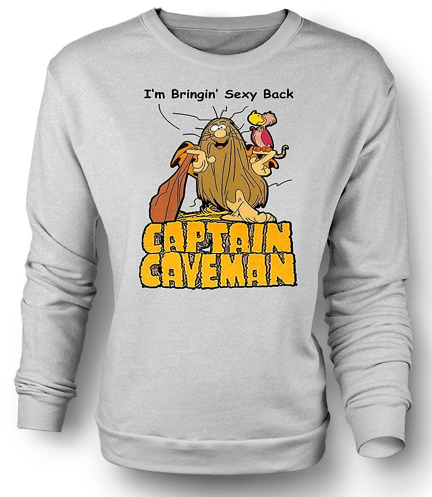 Mens Sweatshirt Captain Caveman - lustige Cartoon - bringen Sexy