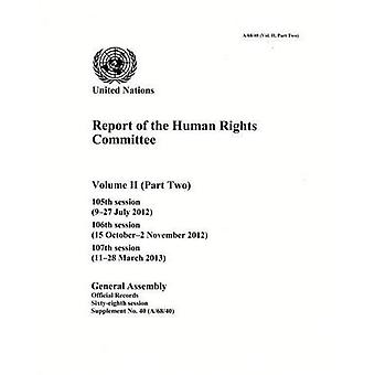 Report of the Human Rights Committee, Volume II, Part 2: 2-2 (Official Records)