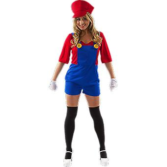 Orion Costumes Womens Super Mario 80s Video Game Themed Fancy Dress Costume
