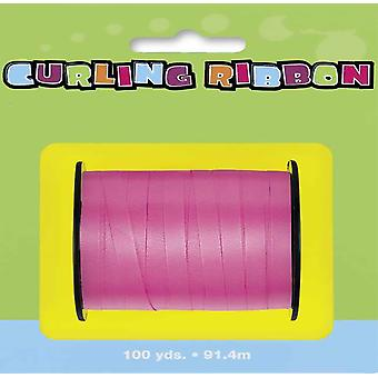 91m Hot Pink Curling Ribbon - 5mm Wide | Gift Wrap Supplies
