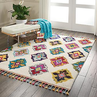 Nomad Nourison NMD06 Ivory Multi  Rectangle Rugs Traditional Rugs