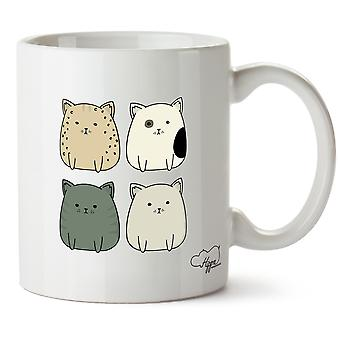 Hippowarehouse Kitty Cat Squad Printed Mug Cup Ceramic 10oz