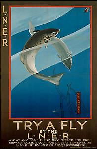 Try A Fly LNER (old rail ad.) fridge  magnet