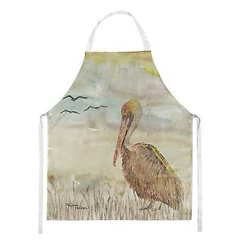 Carolines Treasures  SC2025APRON Brown Pelican Yellow Sky Apron