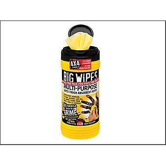 Big Wipes Black Top 4x4 Multi-Purpose Hand Cleaners Tub of 120
