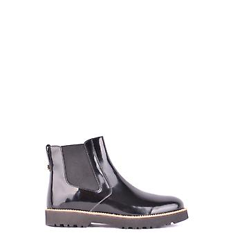 Hogan Black Patent Leather Ankle Boots