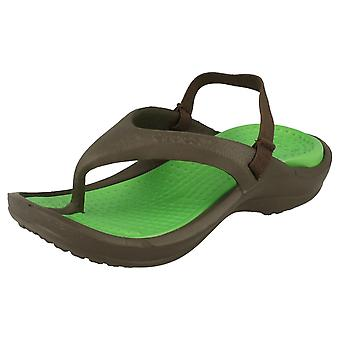 Childrens Unisex Crocs Toe Post Sandals Athens Strap