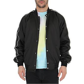Laneus Black Polyester Outerwear Jacket