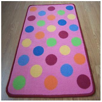 Rugs -Polka Dot Kids - Pink