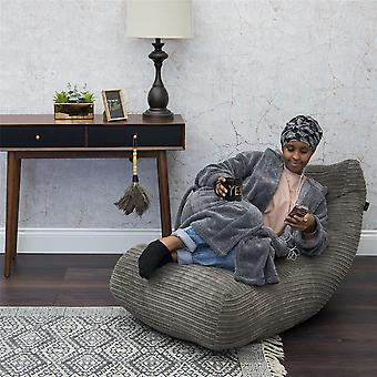 Loft 25® ' Oliver ' Super Soft Charcoal Jumbo Cord Lounger Bean Bag