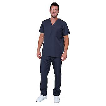 Mænds Lightweight 6 Pocket klassiske ensartet Scrubs