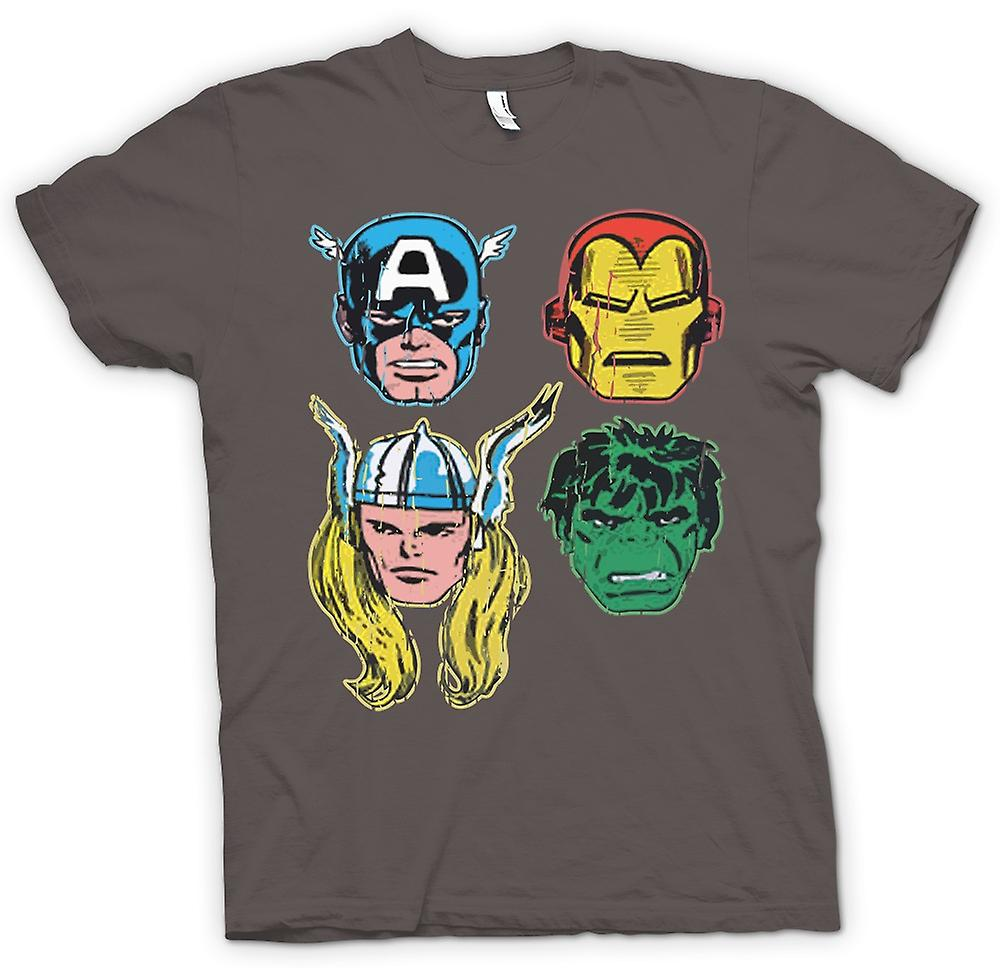 womens t shirt avengers cartoon superhelden captain iron man thor hulk fruugo. Black Bedroom Furniture Sets. Home Design Ideas