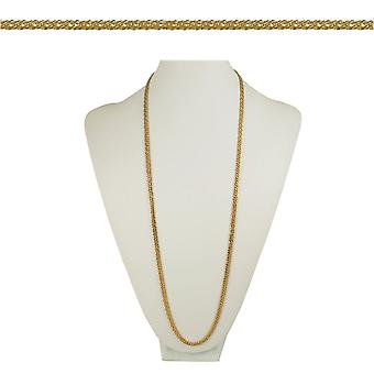 Eternal Collection Classique Chevron Link 36 Inch Gold Tone Necklace