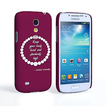 Caseflex Samsung Galaxy S4 Mini Chanel Diamond och pärlor citerar fall
