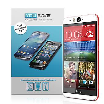 YouSave Accessories HTC Desire EYE Screen Protectors x3