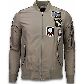 Men's BomberJack-Exclusive Airborne Patches-Beige