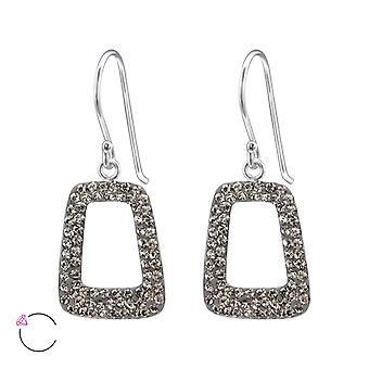 Trapezoid crystal from Swarovski® - 925 Sterling Silver Earrings - W24643X