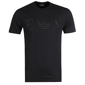 Emporio Armani Embroidered Large Logo Black T-Shirt