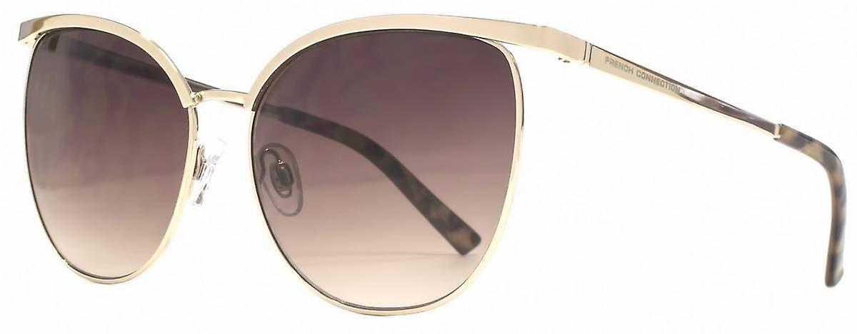 French Connection Glamour Sunglasses - Light Gold