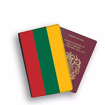 LITHUANIA Flag Passport Holder Style Case Cover Protective Wallet Flags design